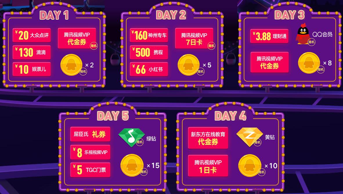 QQ浏览器粉丝狂欢节每天签到领Q币、黄钻、现金礼包 活动线报 第3张