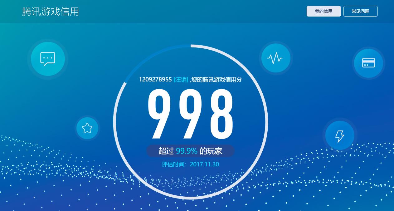 001.png 腾讯游戏信用分上线:游戏资产算入评分。 互联网