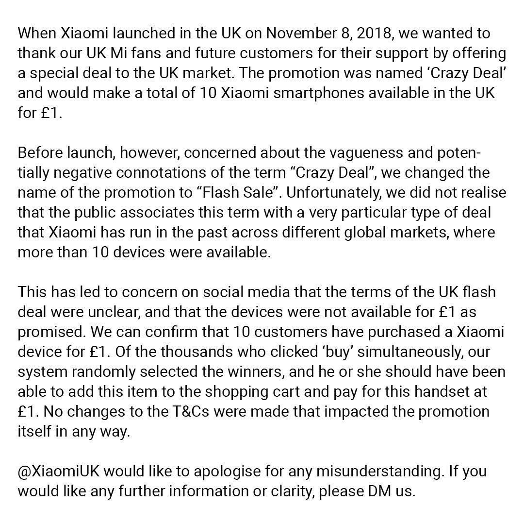 小米在英国玩饥饿营销,限时抢购是假的?官方发文澄清 互联网 第3张