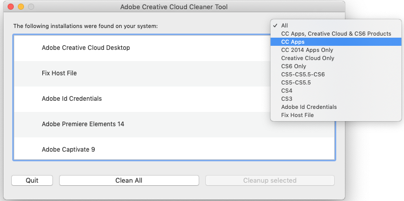 Adobe卸载清理工具Adobe CC Cleaner Tool 4.3下载及教程 教程资料 第4张