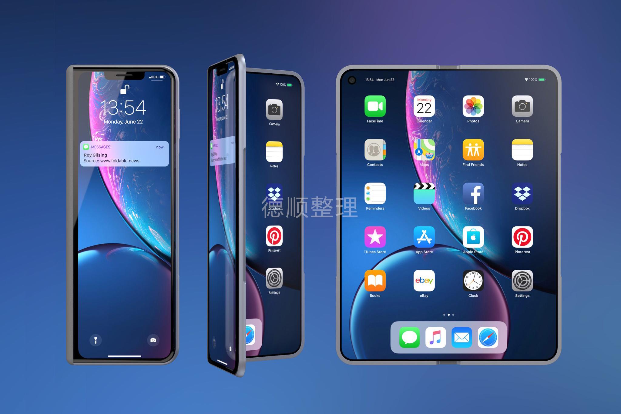 苹果开始测试三星折叠屏幕,有望在2020年推出折叠iPhone手机 互联网 第4张