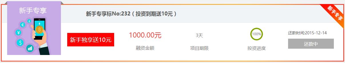 亚丰金融 新用户投1元新手标 满标后送10元可提现! 活动线报 第3张