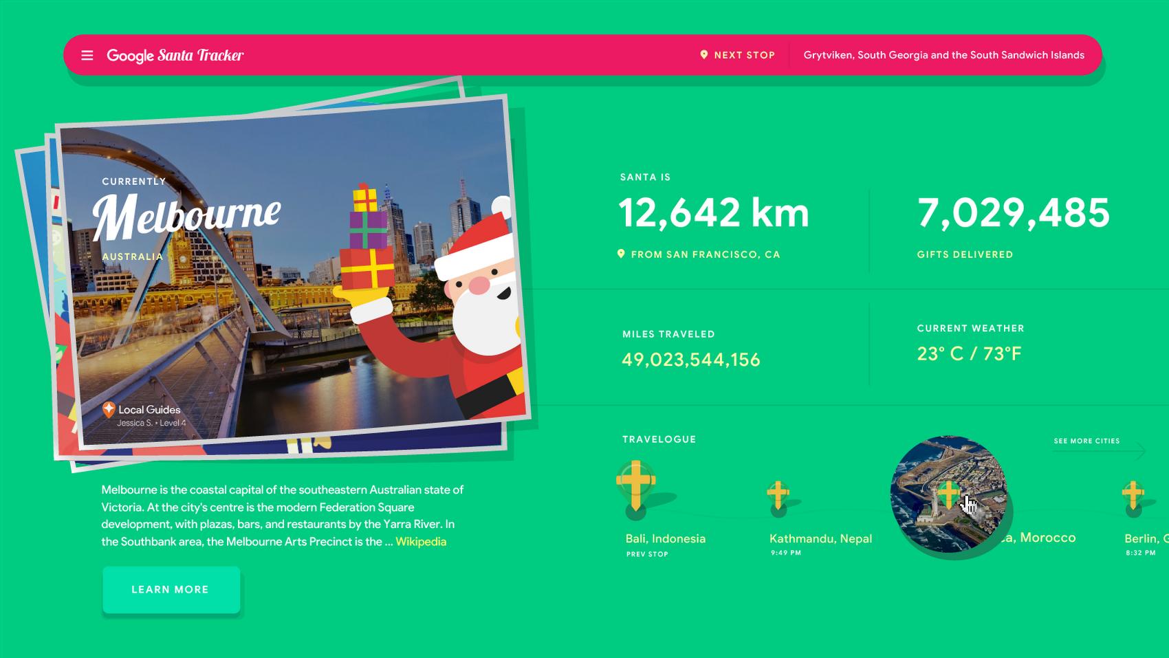 今年圣诞节你可以通过Google地图和智能助理跟踪圣诞老人 互联网 第2张