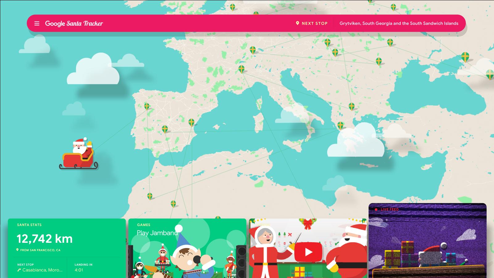 今年圣诞节你可以通过Google地图和智能助理跟踪圣诞老人 互联网 第3张