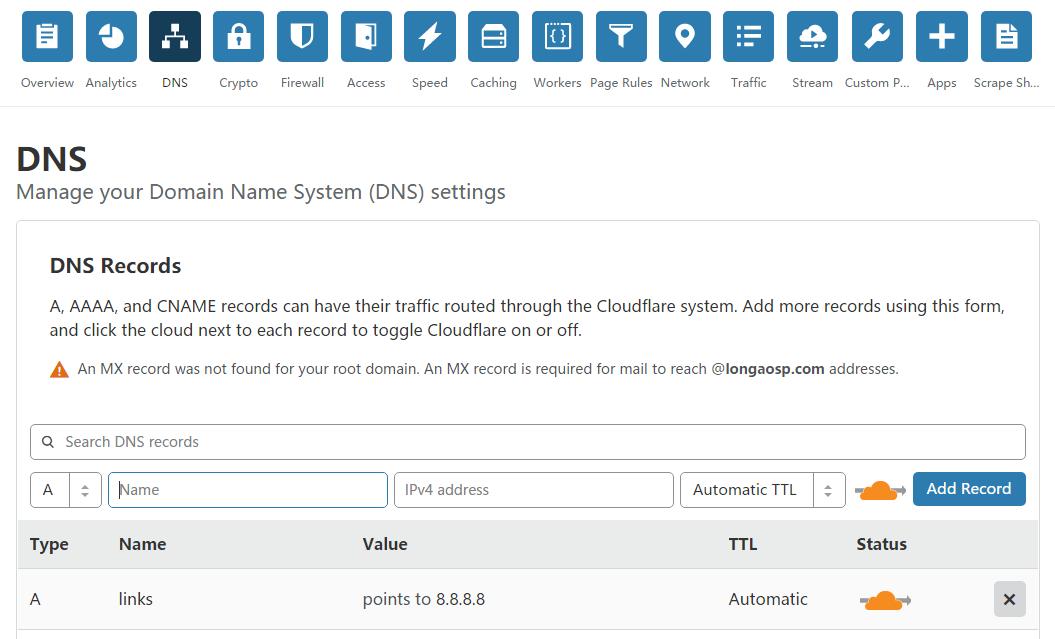 使用CloudFlare来做301跳转 域名无需备案,支持百度收录 教程资料 第6张